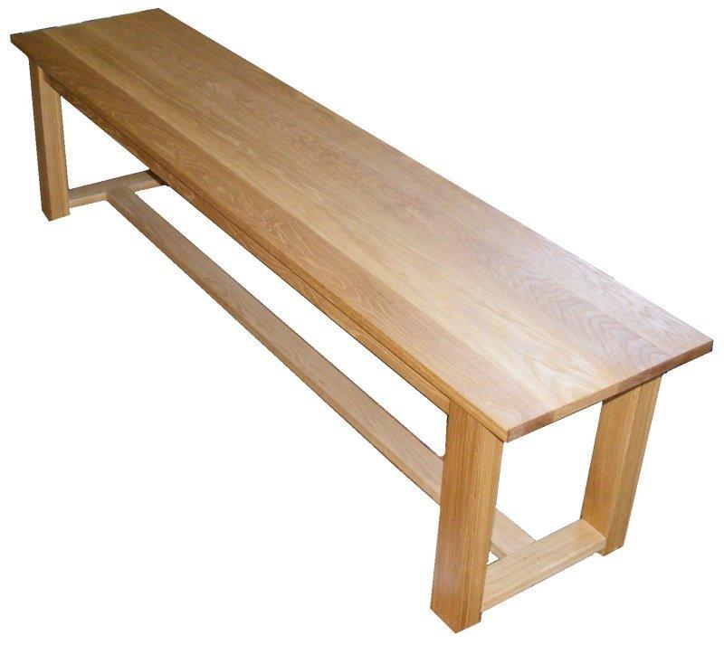 Handmade Solid Oak Dining Table Bench Seat 180cm EBay