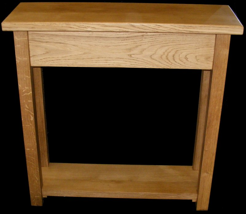 handmade solid oak hall console table ebay